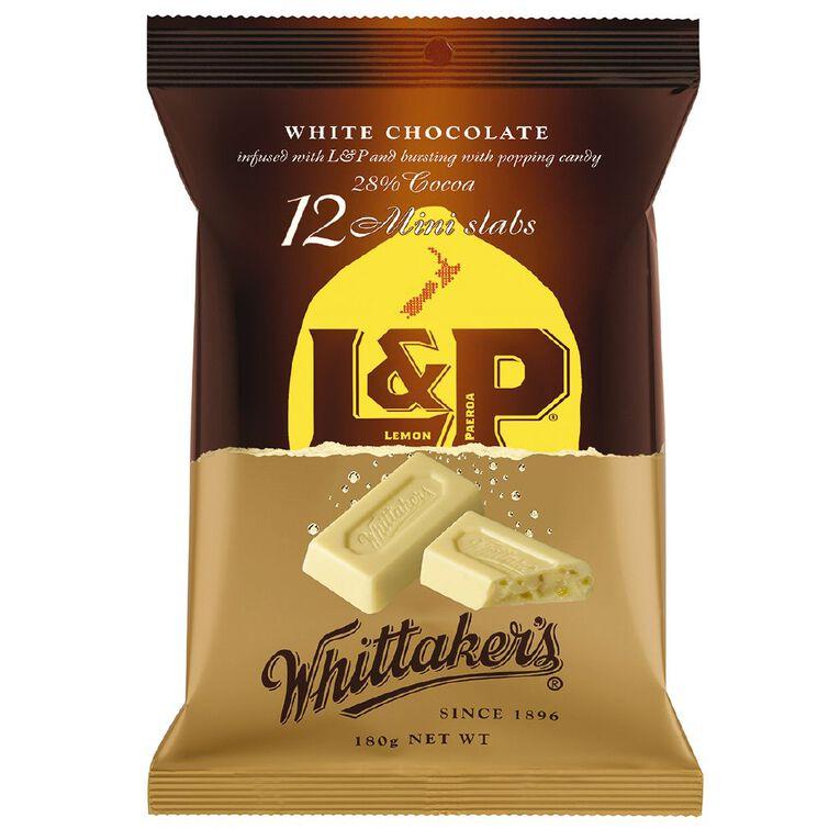 Whittaker's Mini Slab L&P 12 Pack 180g, , hi-res