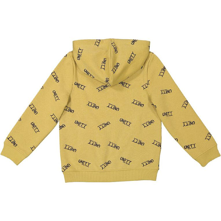 Young Original All Over Print Pull Over Hoodie, Yellow Dark, hi-res