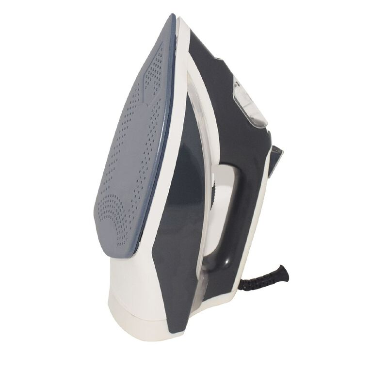 Living & Co Ceramic Soleplate Iron 2000-2400W Grey/White, , hi-res