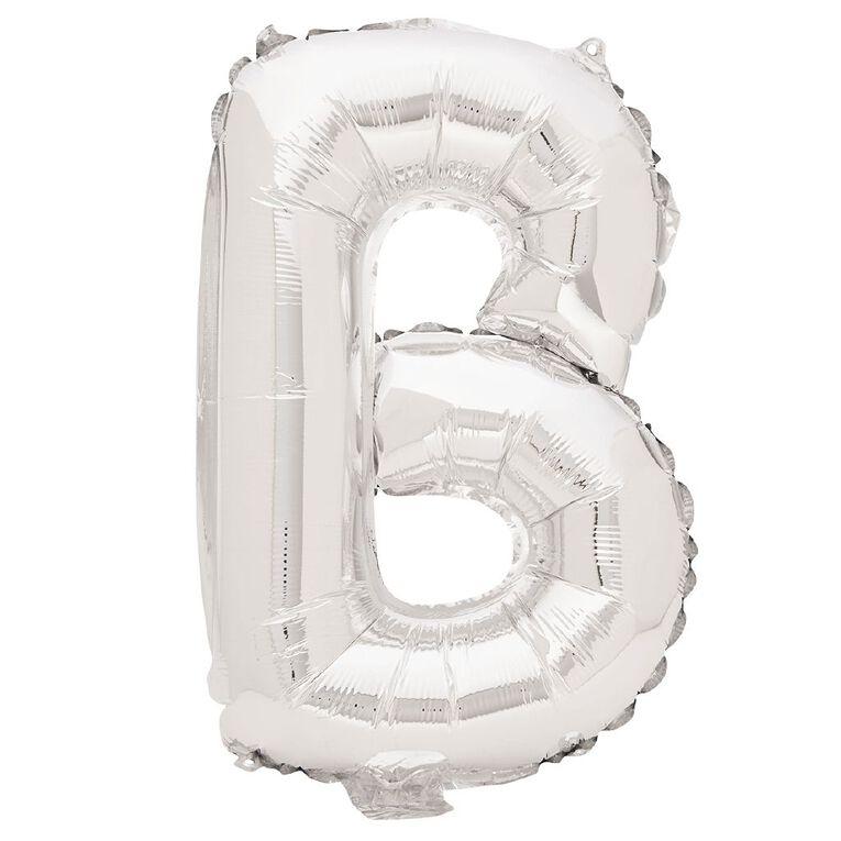 Artwrap Foil Balloon B Silver 35cm, , hi-res