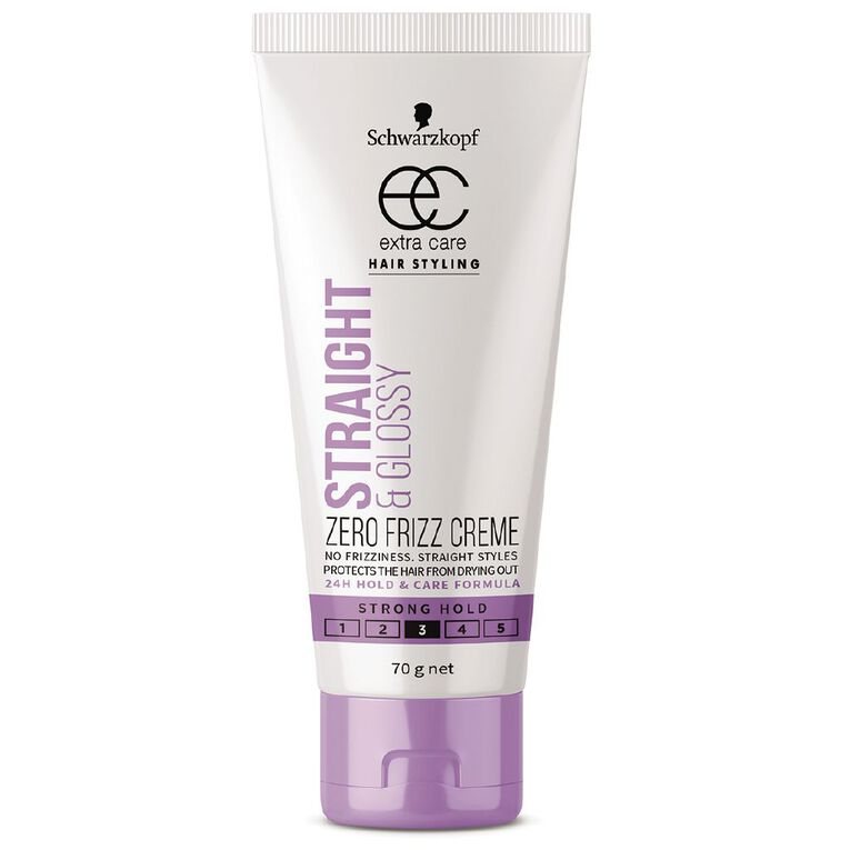 Schwarzkopf Extra Care Straight & Glossy Zero Frizz Creme 70g, , hi-res