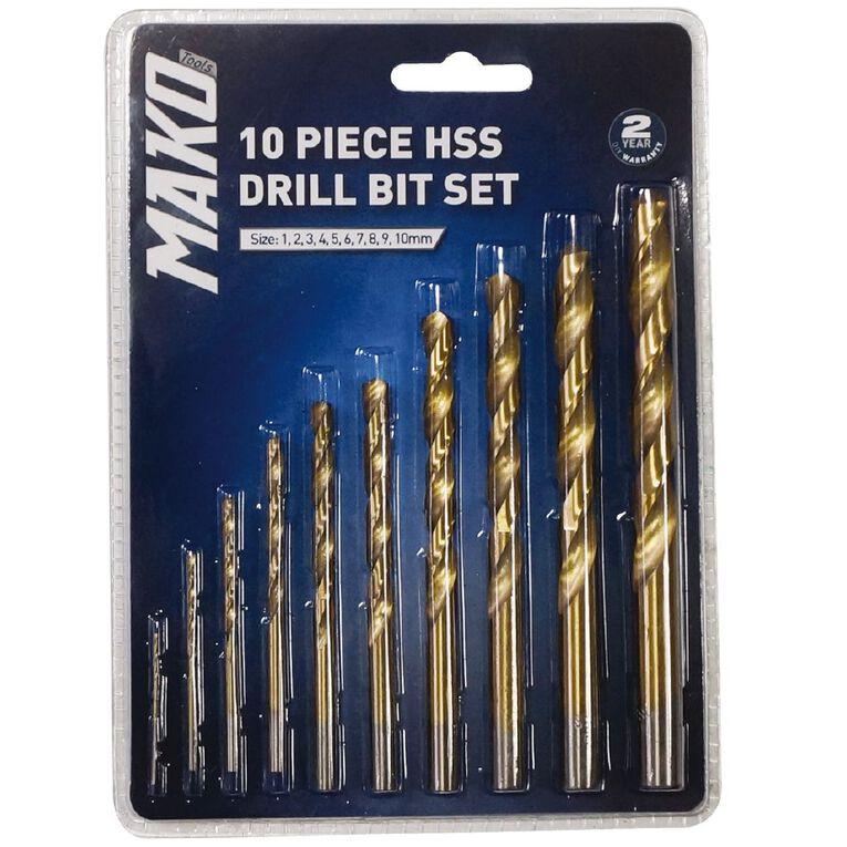 Mako 10 Piece Drill Bit Set, , hi-res