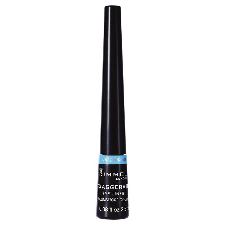 Rimmel Exaggerate Liquid Eyeliner Waterproof Black, , hi-res
