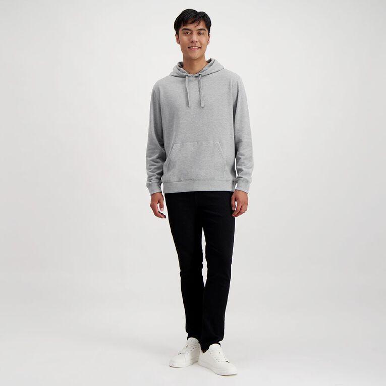 H&H Men's Plain Hooded Sweatshirt, Grey Marle, hi-res