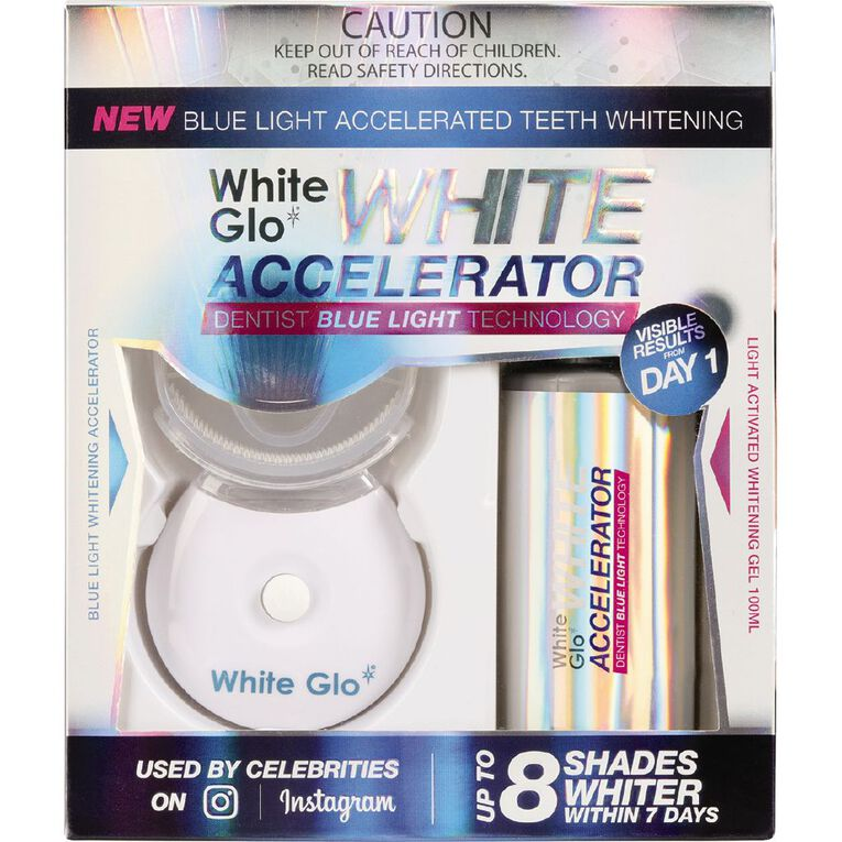 White Glo Blue Light Accelerator Whitening Kit, , hi-res