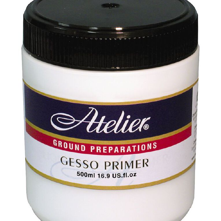 Atelier Gesso Primer 500ml White, , hi-res
