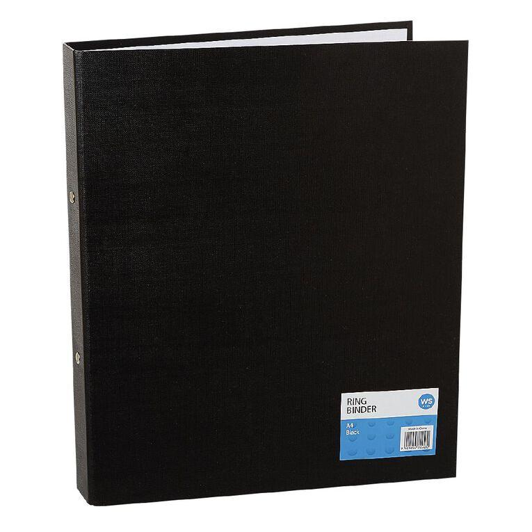 WS Ring Binder PVC Black A4, , hi-res