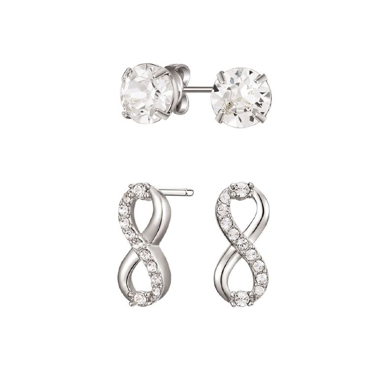 Mestige Silver Plated Limitless Set with Swarovski Crystals, , hi-res