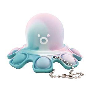 Fidget Push Pop Keyring Reversable Octopus Tie Dye