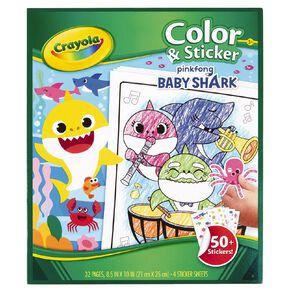 Crayola Color & Sticker Book Baby Shark