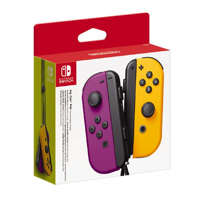 Nintendo Switch Controller Set Neon Purple/Orange, , hi-res