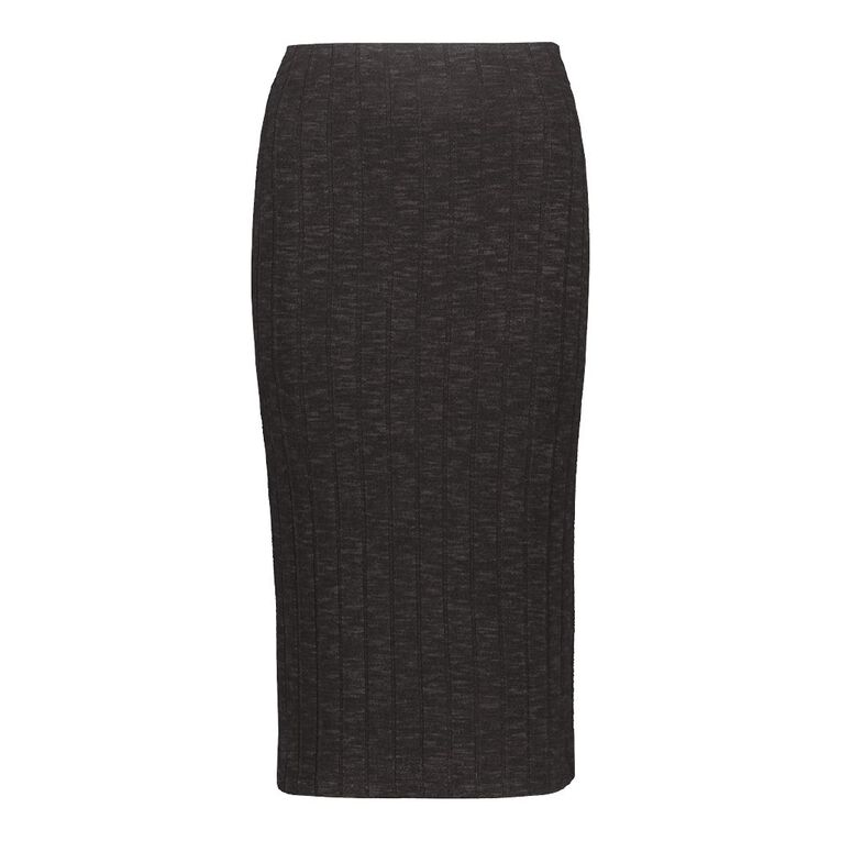 H&H Women's Brushed Rib Midi Skirt, Grey Dark, hi-res