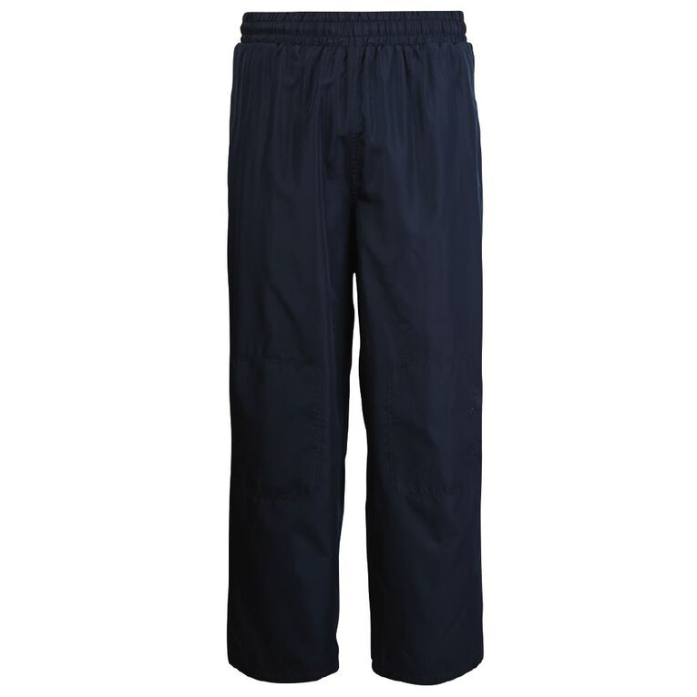 Schooltex Straight Leg Pongee Trackpants, Navy, hi-res image number null