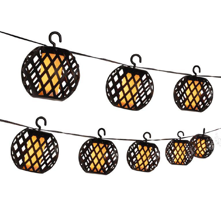 Kiwi Garden Solar Flame String Lights, , hi-res