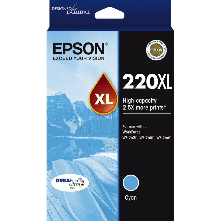 Epson Ink 220XL Cyan (450 Pages), , hi-res