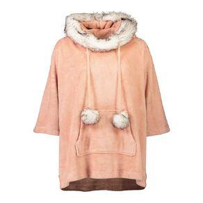 H&H Women's Velour Coral Fleece Poncho