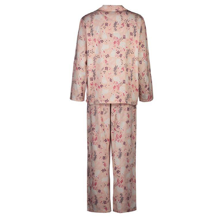 H&H Women's Flannelette Pyjamas Set, Pink BUNNY, hi-res