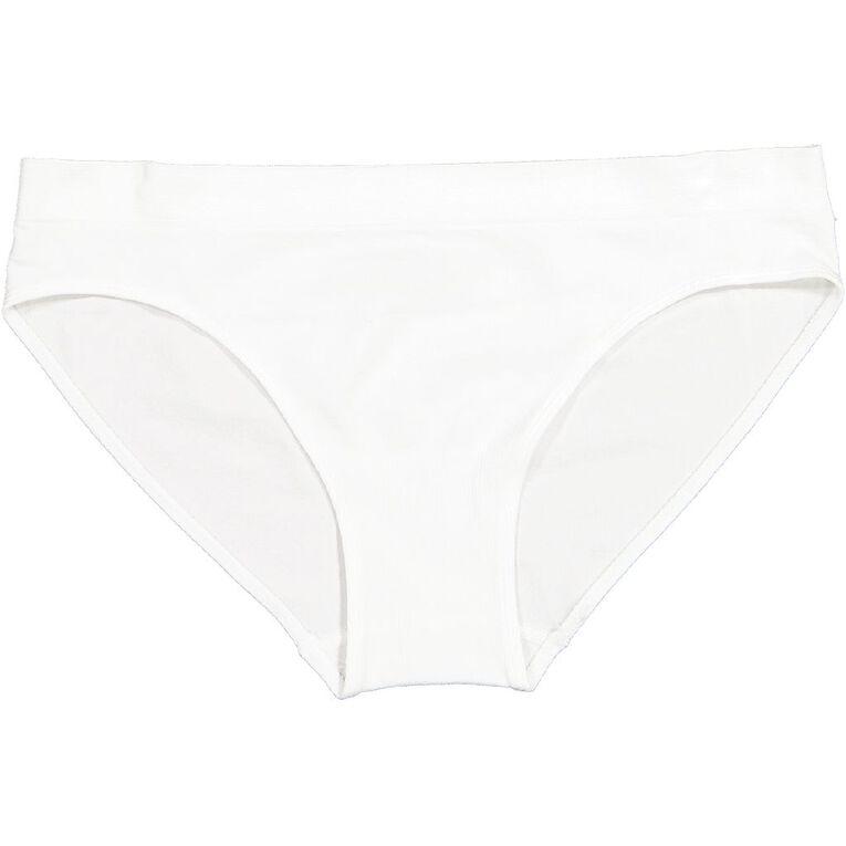 H&H Women's Seamfree Bikini Brief, White, hi-res