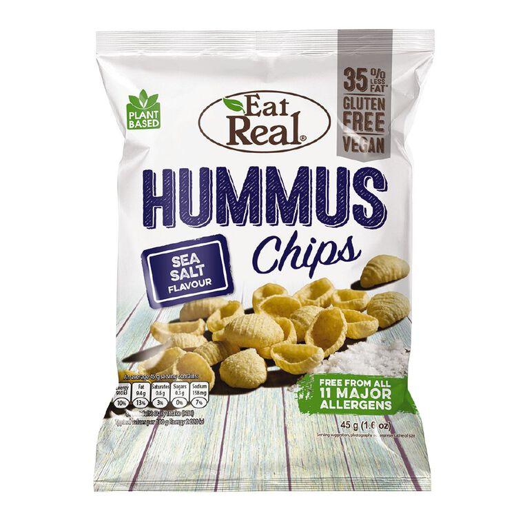 Eat Real Hummus Chips Sea Salt 45g, , hi-res
