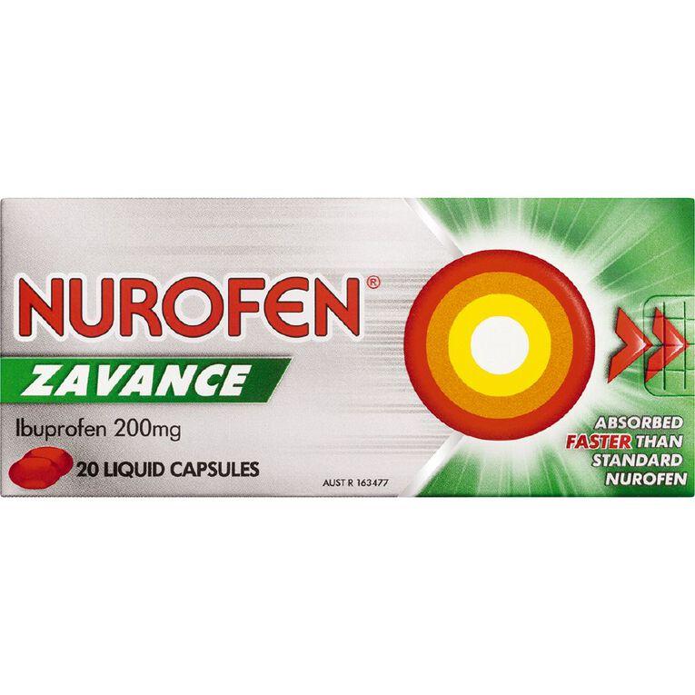 Nurofen Zavance Liquid Capsules 20s, , hi-res