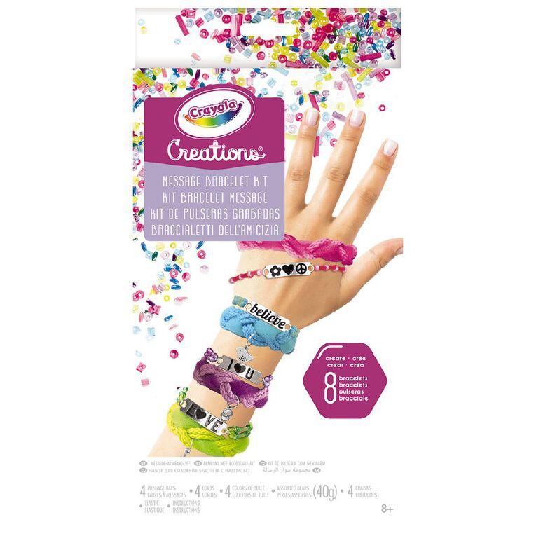 Crayola Creations Message Bracelet Kit, , hi-res