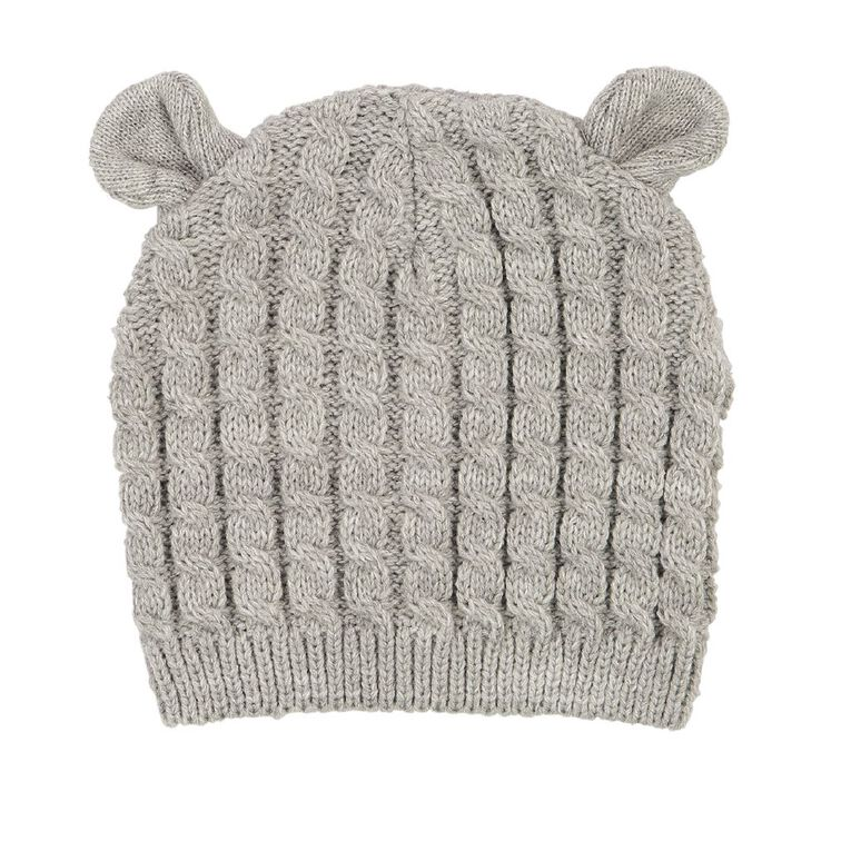 Young Original Infants' Knit Cable Beanie, Grey Mid, hi-res image number null