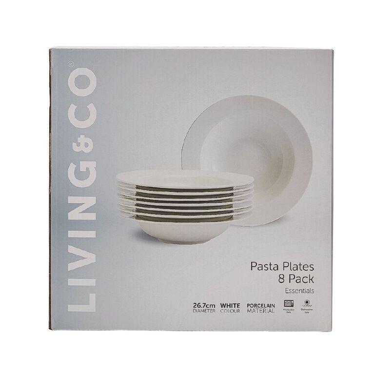 Living & Co Essentials Pasta Plates 8 Pack 27cm, , hi-res