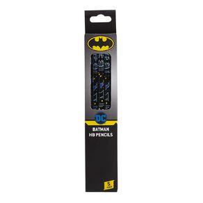 Batman Warner Bros Pencils HB 5 Pack Blue Dark