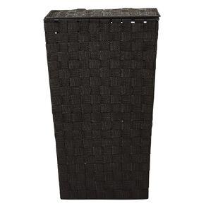 Living & Co Woven Hamper Black
