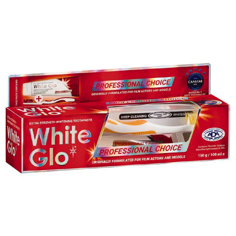 White Glo Whitening Professional Toothpaste 150g, , hi-res
