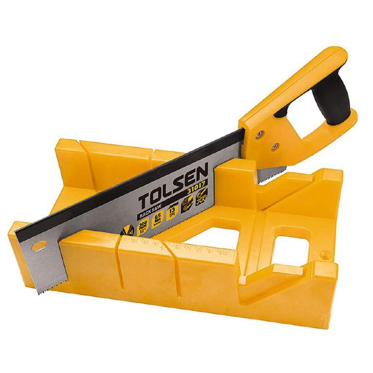 Tolsen Mitre Box with Saw 300mm, , hi-res