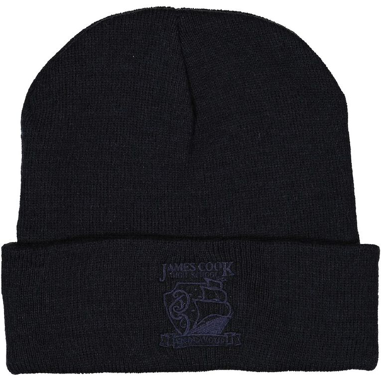 Schooltex James Cook Beanie with Embroidery, Navy, hi-res