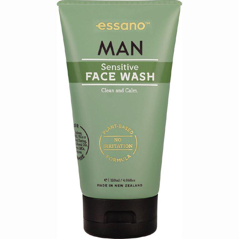 Essano Man Face Wash Sensitive 120ml, , hi-res