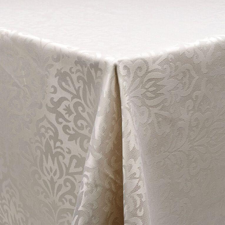 Living & Co Table Cloth Jackie Ivory White 135cm x 230cm, , hi-res