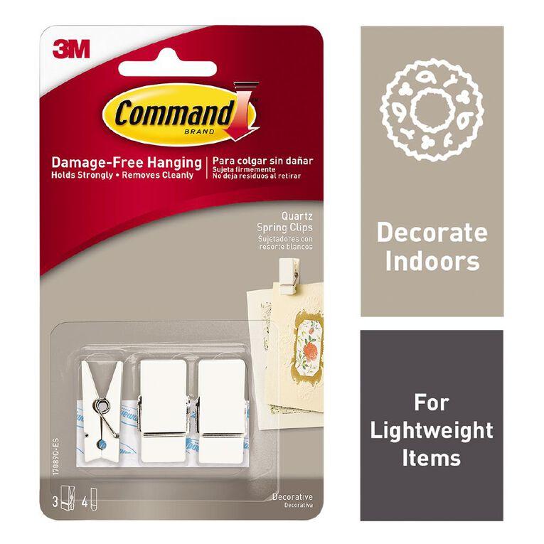Command Quartz Spring Clips 3 Pack, , hi-res