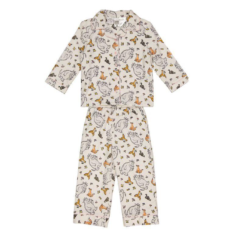Gruffalo Kids' Flannelette Pyjamas, Cream, hi-res