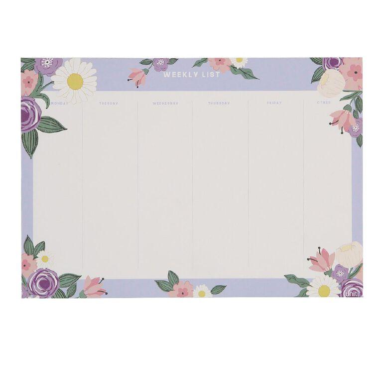 Uniti Blossom Weekly Planner Purple A4, , hi-res
