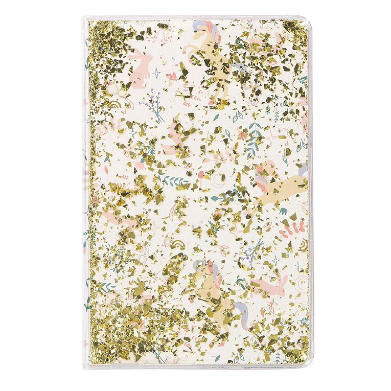 Kookie Enchanted Clear Liquid Notebook Clear A5, , hi-res