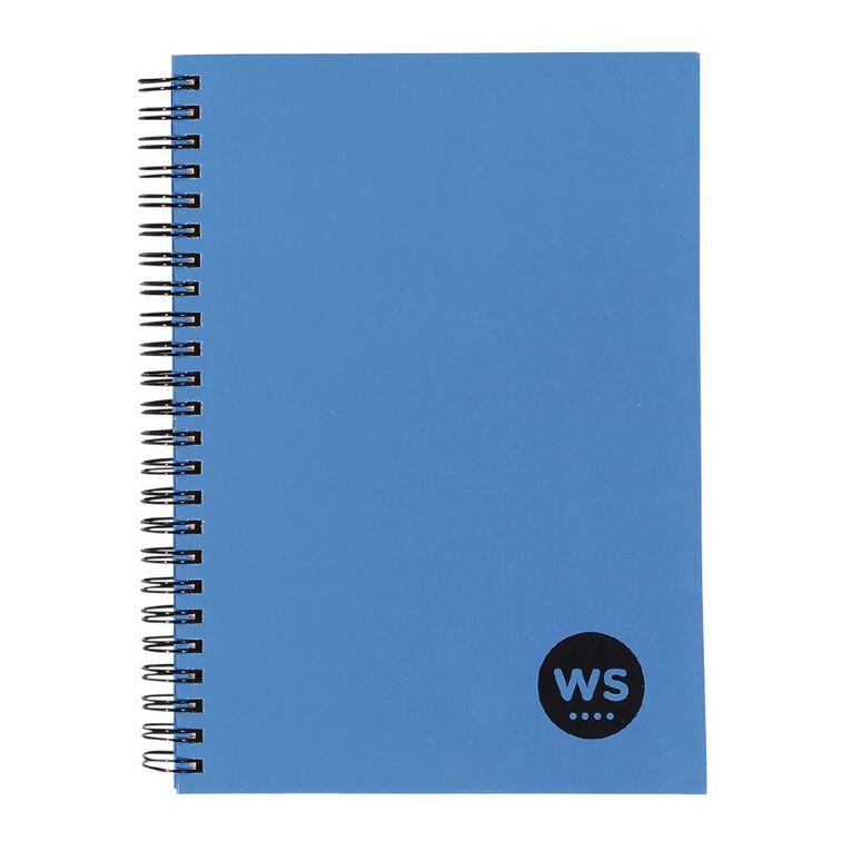WS Notebook Wiro 200 Pages Hard Back Blue A5, , hi-res