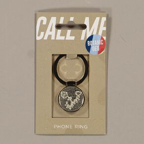 Botanic Geo Phone Ring Gold