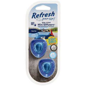 Refresh Your Car Mini Diffuser New Car/Cool Breeze 2 Pack
