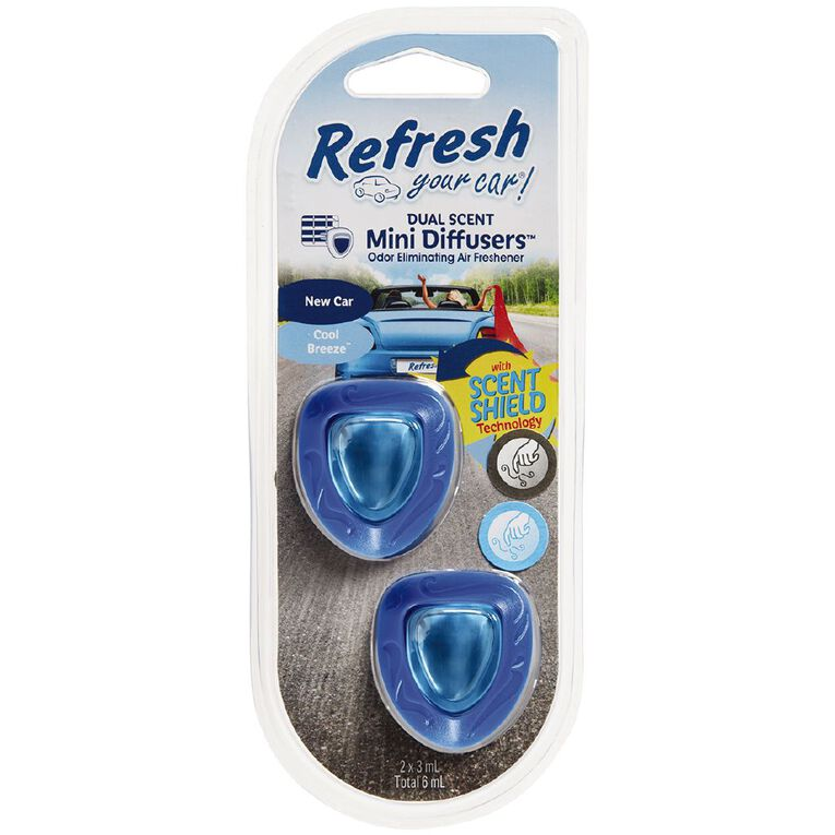 Refresh Your Car Mini Diffuser New Car/Cool Breeze 2 Pack, , hi-res image number null