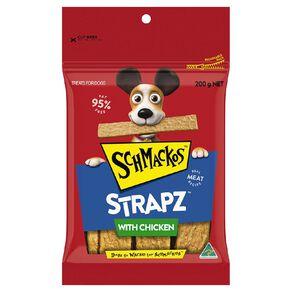Schmackos Strapz Dog Treats Chicken 200g