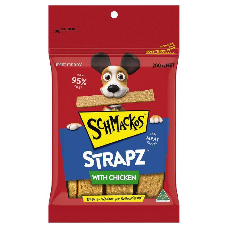 Schmackos Strapz Dog Treats Chicken 200g, , hi-res