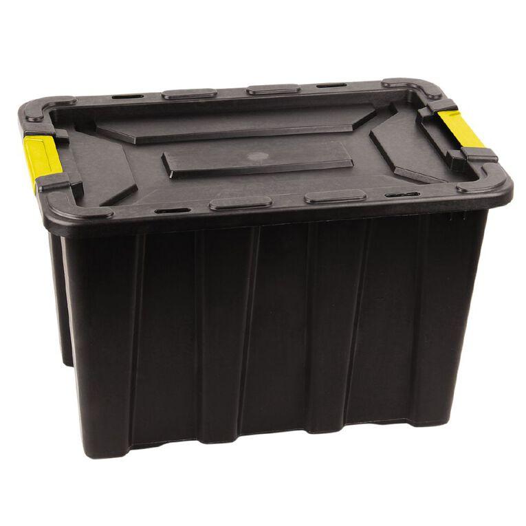 Living & Co Heavy Duty Storage Box Black 55L, , hi-res