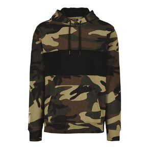 Garage Men's Hooded Spliced Camo Hooded Sweatshirt