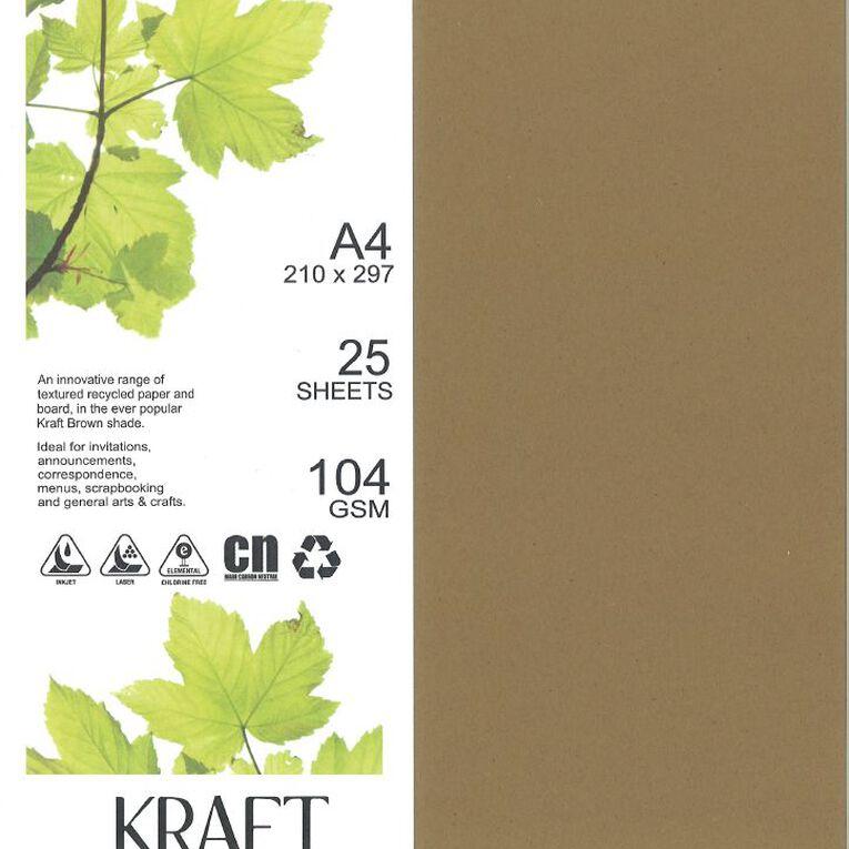 Direct Paper Enviro Paper 104gsm 25 Pack Kraft Brown A4, , hi-res