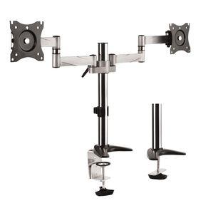 Brateck Aluminium LCD VESA Dual Desk Mount for LCD Screen Size 13-27