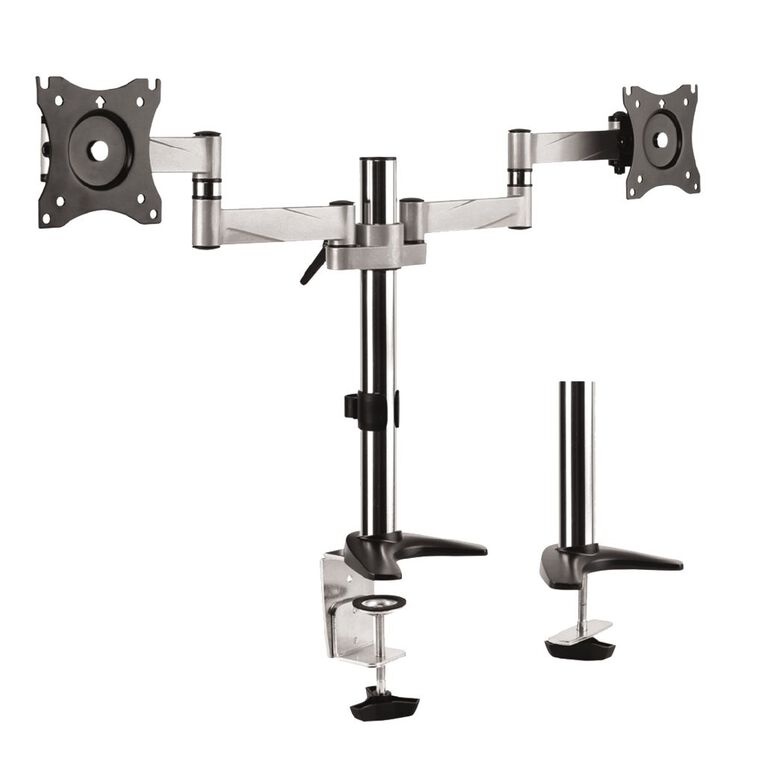 Brateck Aluminium LCD VESA Dual Desk Mount for LCD Screen Size 13-27, , hi-res