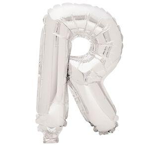 Artwrap Foil Balloon R Silver 35cm